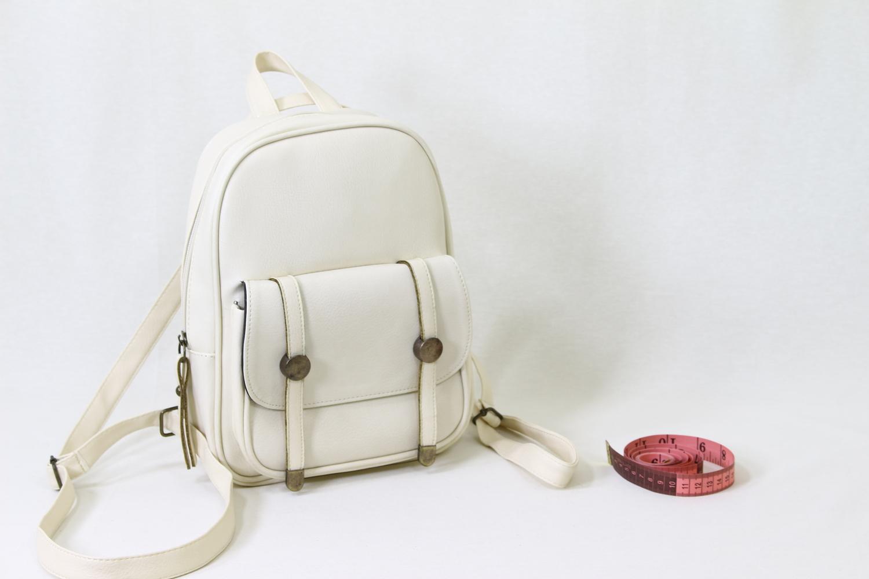 6c2c71d351204 Sırt Çantaları :: 2 Mıknatıslı Fermuarlı Küçük Sırt Çantası Krem